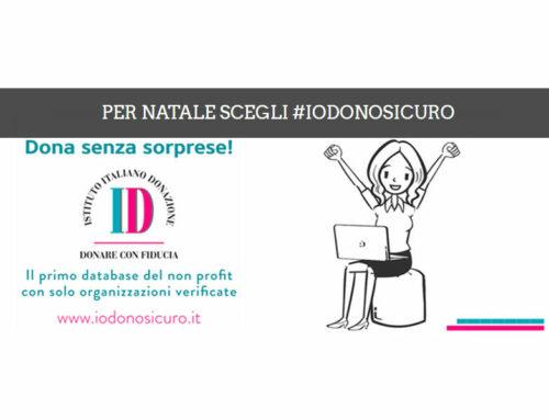 I doni natalizi dell'Associazione NB hanno il marchio #IODONOSICURO